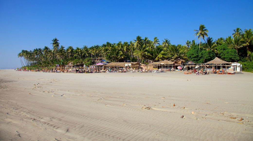 Goa which includes a sandy beach, tropical scenes and landscape views