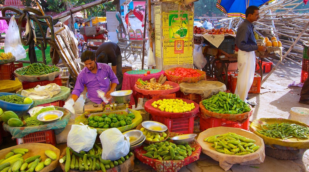 Jaipur featuring markets and food