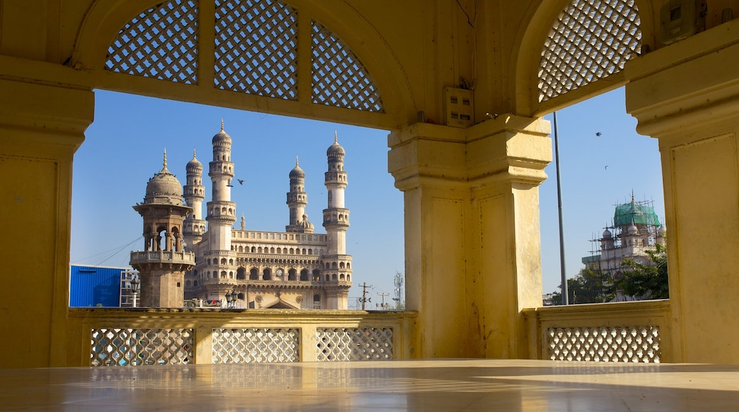 Mecca Masjid showing heritage architecture, interior views and a mosque
