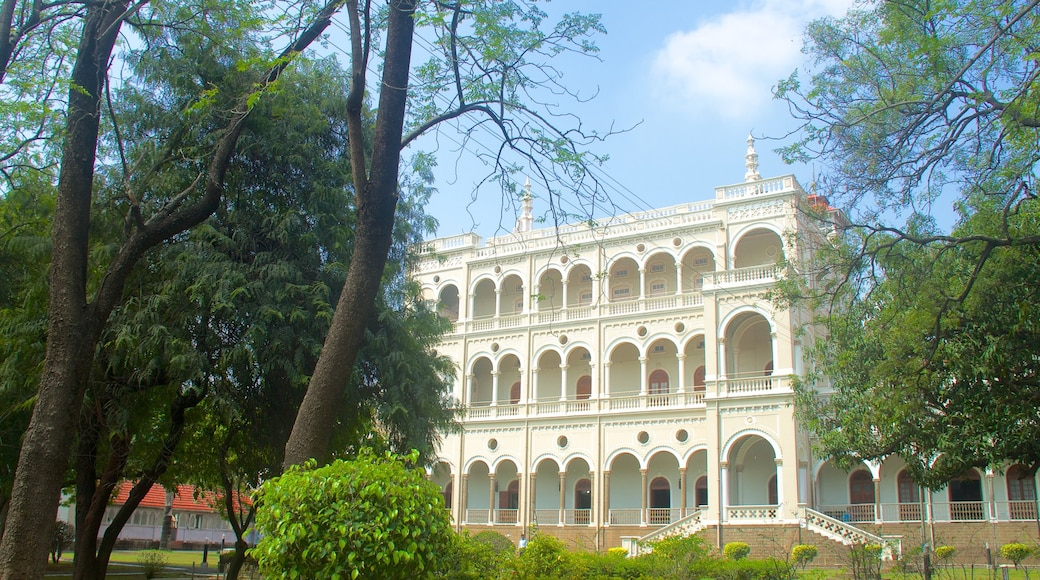 Aga Khan Palace which includes heritage architecture, a city and a castle