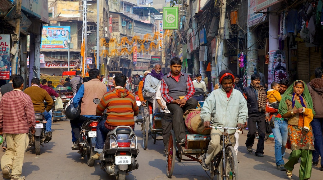Chandni Chowk featuring street scenes, a city and motorcycle riding