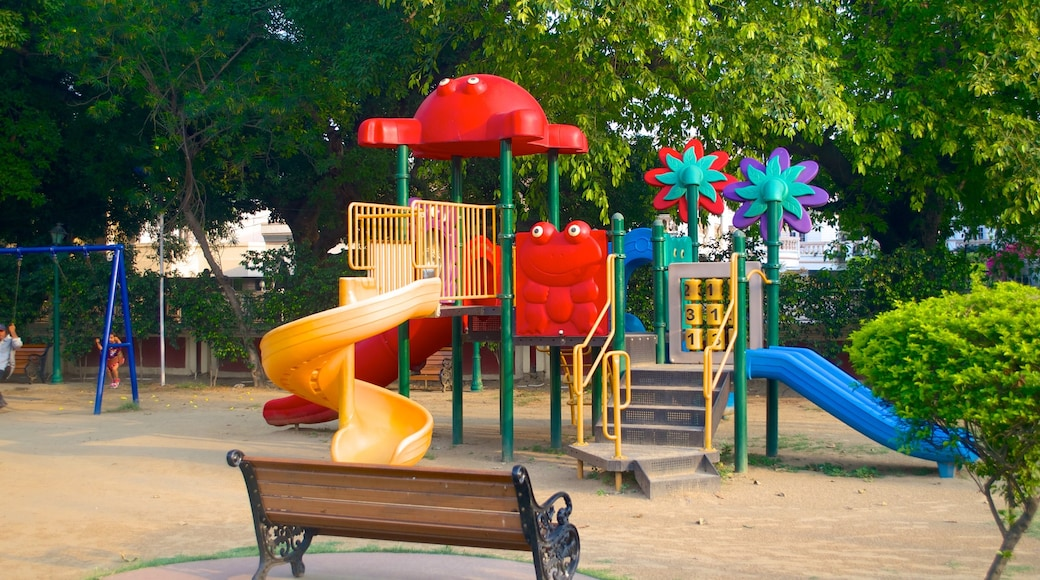 Nicco Park which includes a playground and a garden
