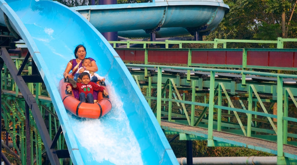 Nicco Park showing rides, a water park and a park