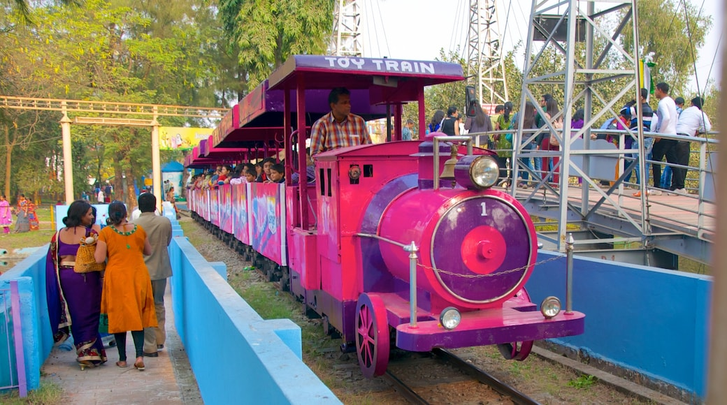 Nicco Park which includes railway items, rides and a garden