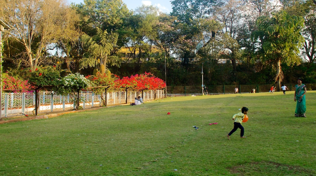 Saras Baug showing a park as well as an individual child