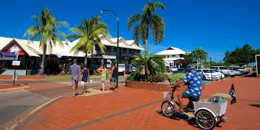 Broome which includes cycling, a coastal town and a city