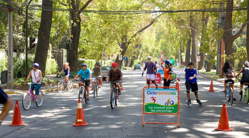 Providencia featuring cycling, street scenes and a sporting event