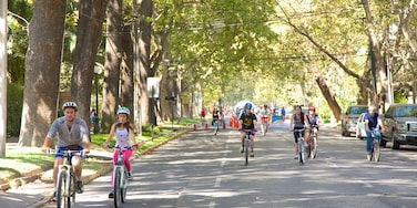Providencia featuring a sporting event, cycling and street scenes