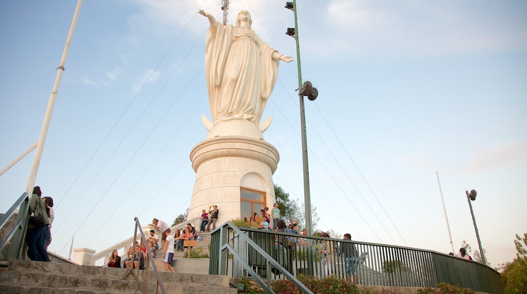 San Cristobal Hill which includes outdoor art, a statue or sculpture and views