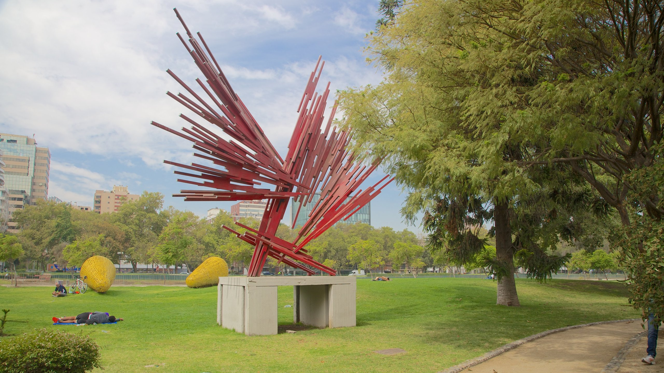Admire a collection of sculptures by national and international artists, enjoy views of the Andes or watch live music events in this park in Providencia.