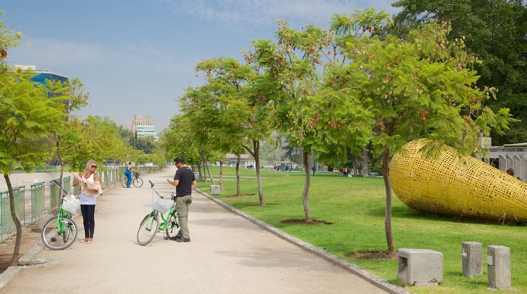 Sculpture Park showing art, cycling and outdoor art