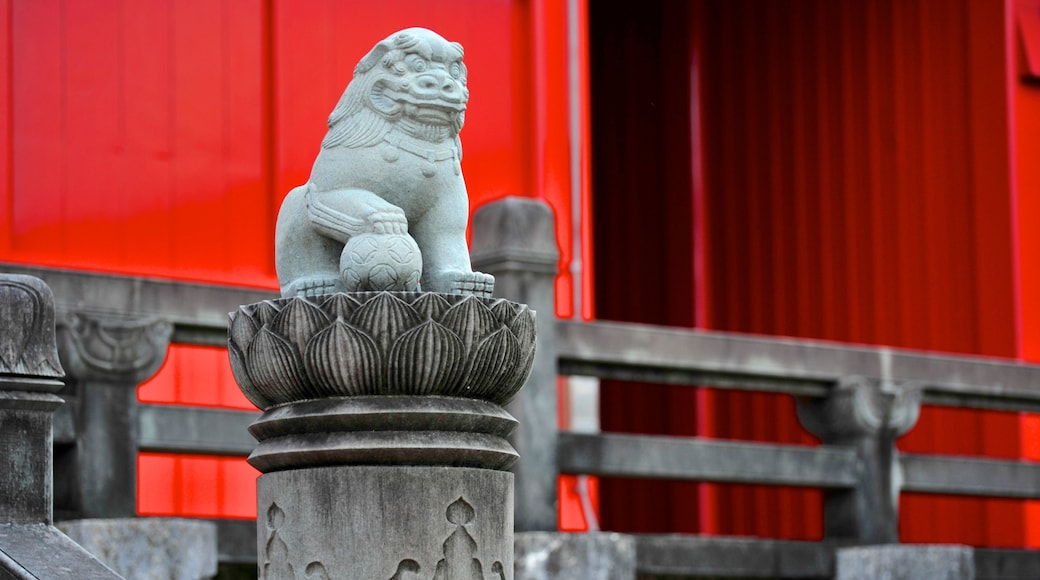 Shurijo Castle showing art, heritage architecture and outdoor art