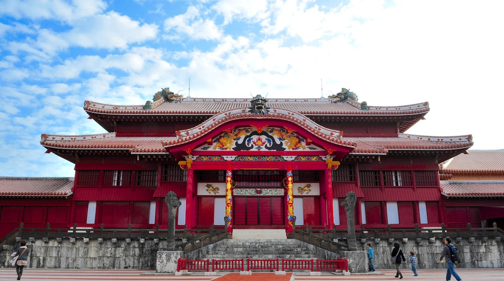 Naha featuring heritage architecture, a temple or place of worship and religious aspects