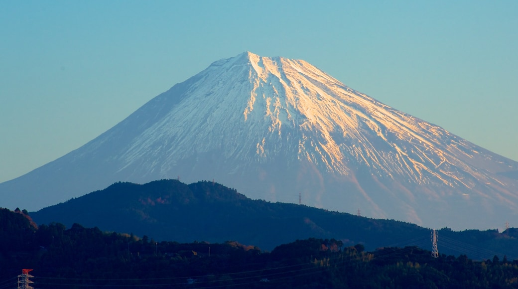 Mount Fuji featuring mountains, snow and landscape views