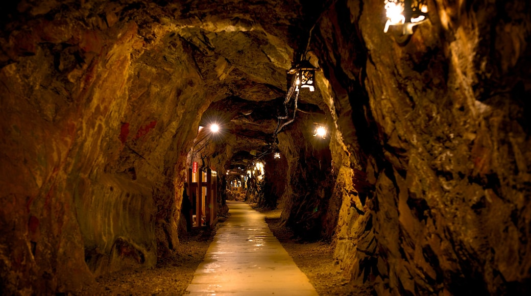 土肥金山 设有 洞穴 和 內部景觀
