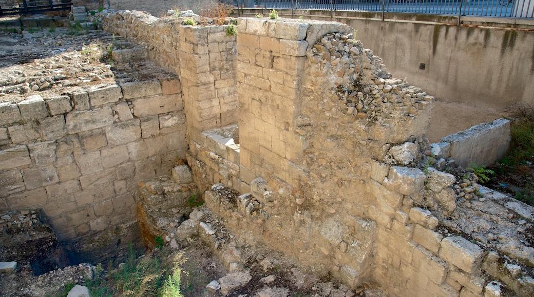 Romersk mur som visar en ruin