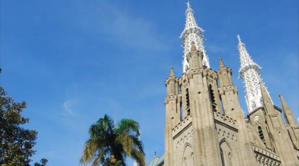 雅加達大教堂 其中包括 歷史建築, 教堂或大教堂 和 宗教方面