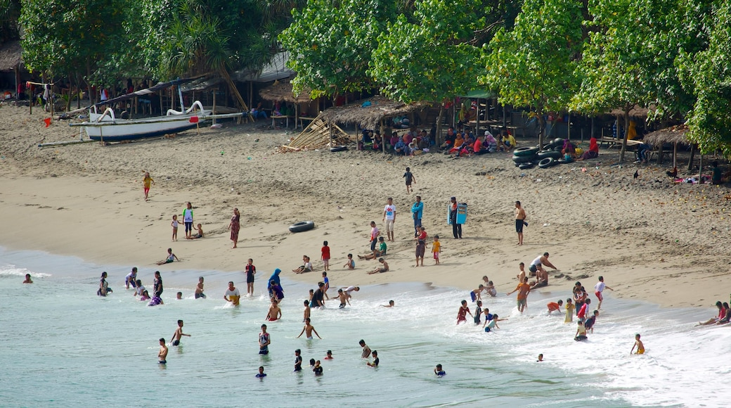 Senggigi showing swimming, a small town or village and general coastal views