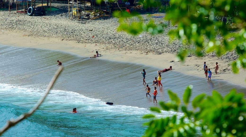 Senggigi featuring a beach, swimming and landscape views