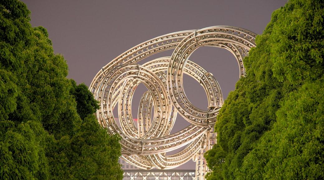 Minatomirai featuring night scenes and modern architecture