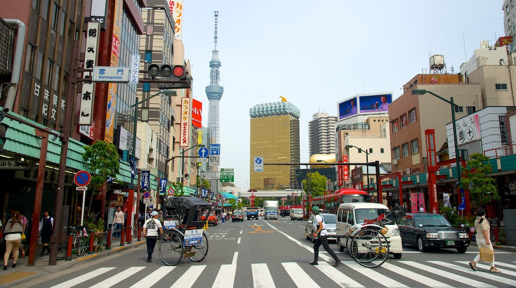 Tokyo Sky Tree which includes a city, cbd and street scenes