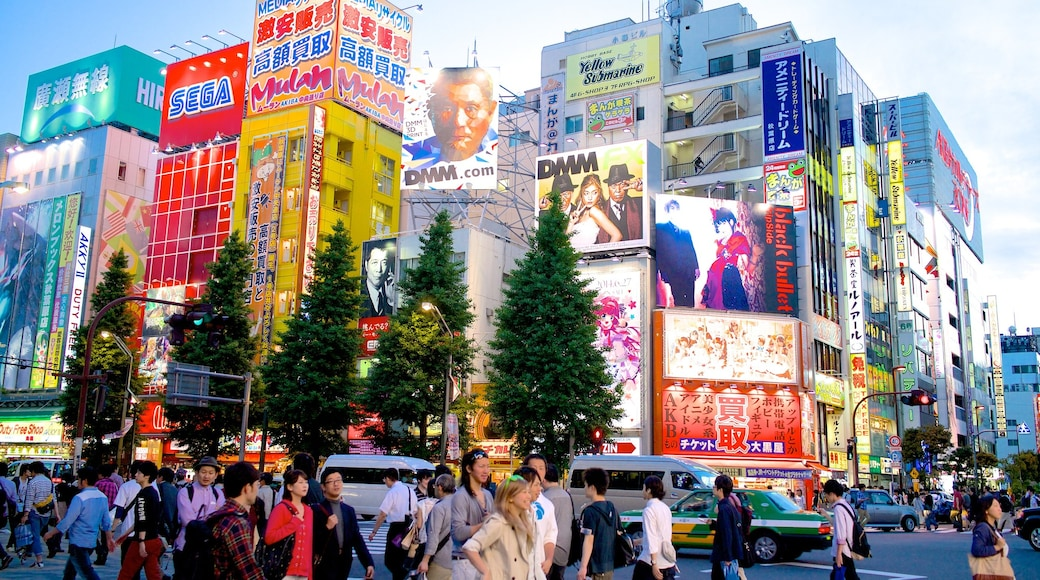 Akihabara Electric Town which includes signage, a city and modern architecture