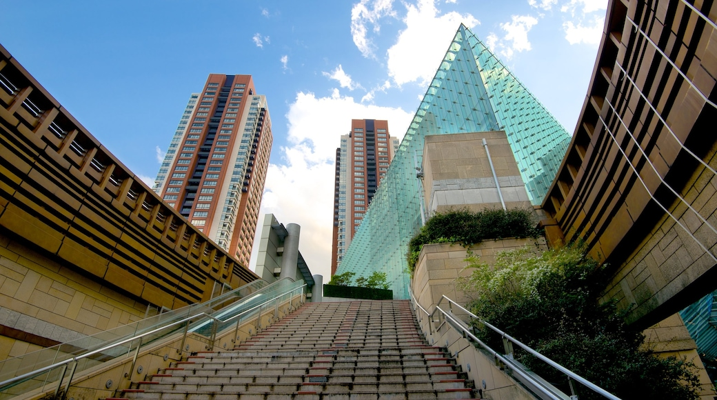 Roppongi Hills featuring a high-rise building, modern architecture and a city