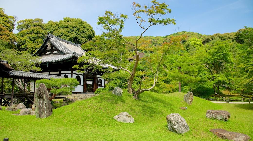 高台寺 设有 山水美景, 宗教方面 和 廟宇或禮拜堂