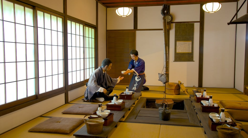Hakutsuru Sake Brewery Museum featuring interior views