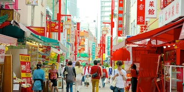 Chinatown featuring a city, street scenes and markets