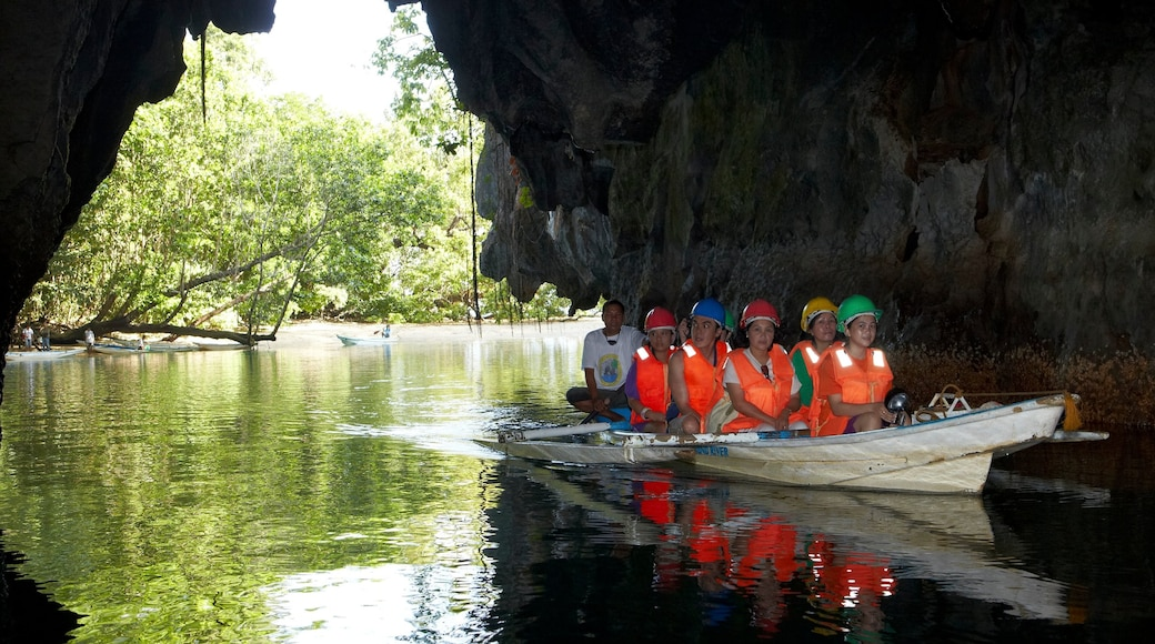 Palawan which includes caving, caves and kayaking or canoeing