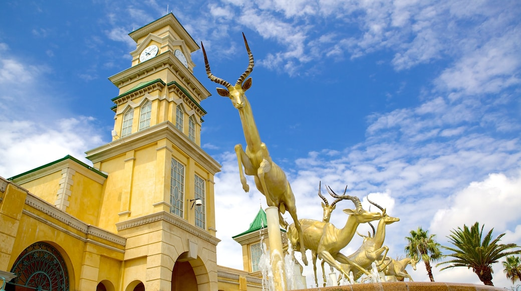 Gold Reef City which includes heritage architecture, art and outdoor art