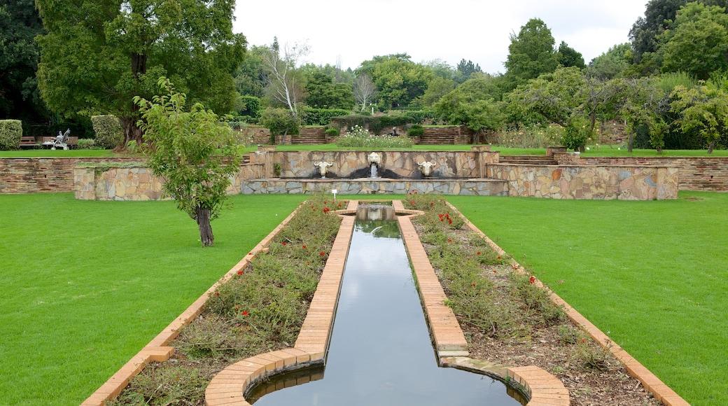 Johannesburg Botanical Garden which includes a pond and a garden