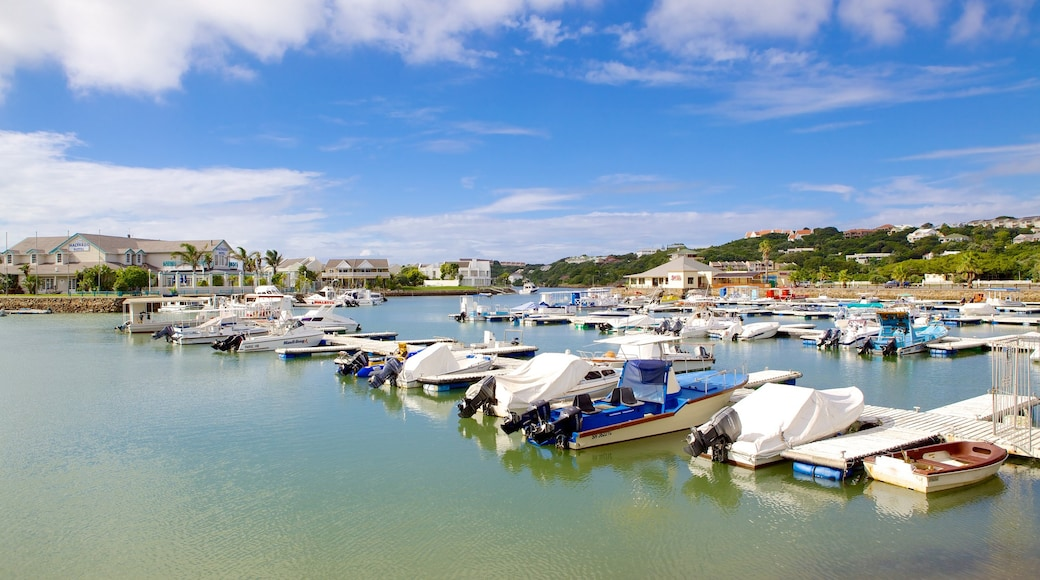 Port Alfred showing a coastal town, boating and a marina