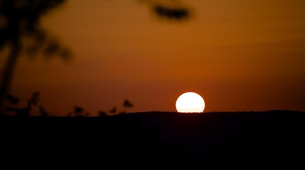 Parco nazionale di Kruger caratteristiche di tramonto