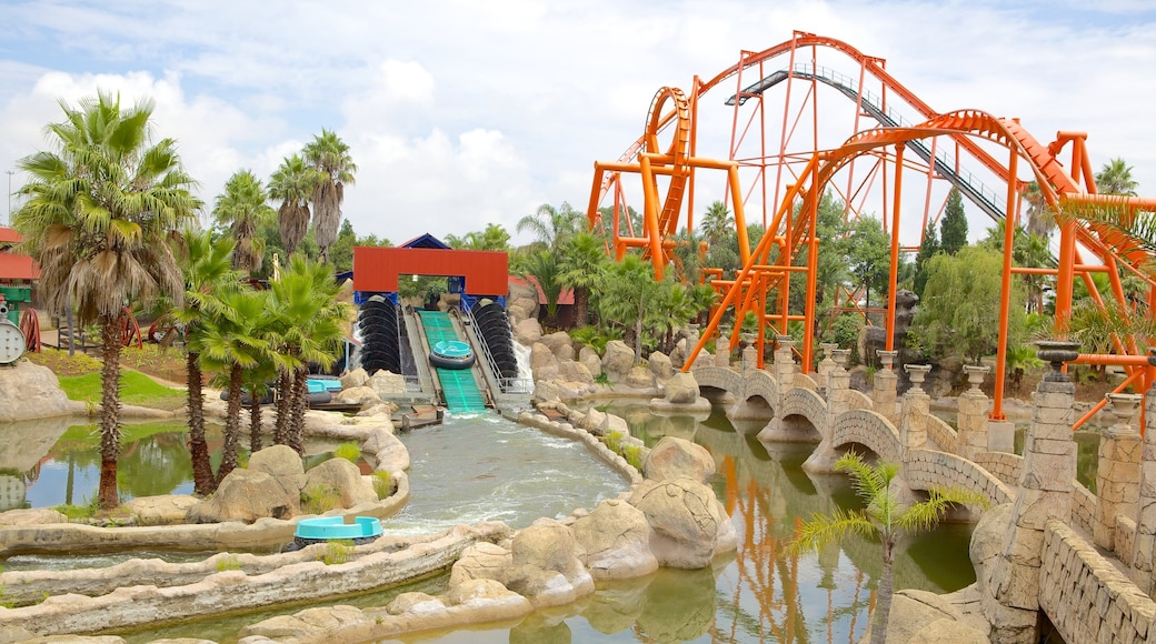 Gold Reef City which includes rides and a waterpark