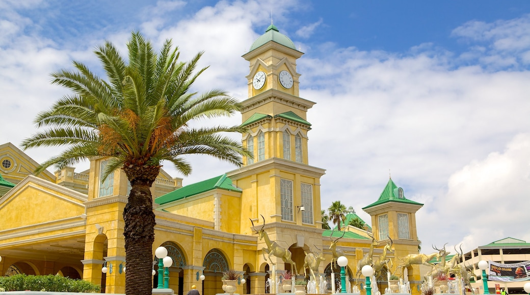 Gold Reef City showing heritage architecture, a city and cbd