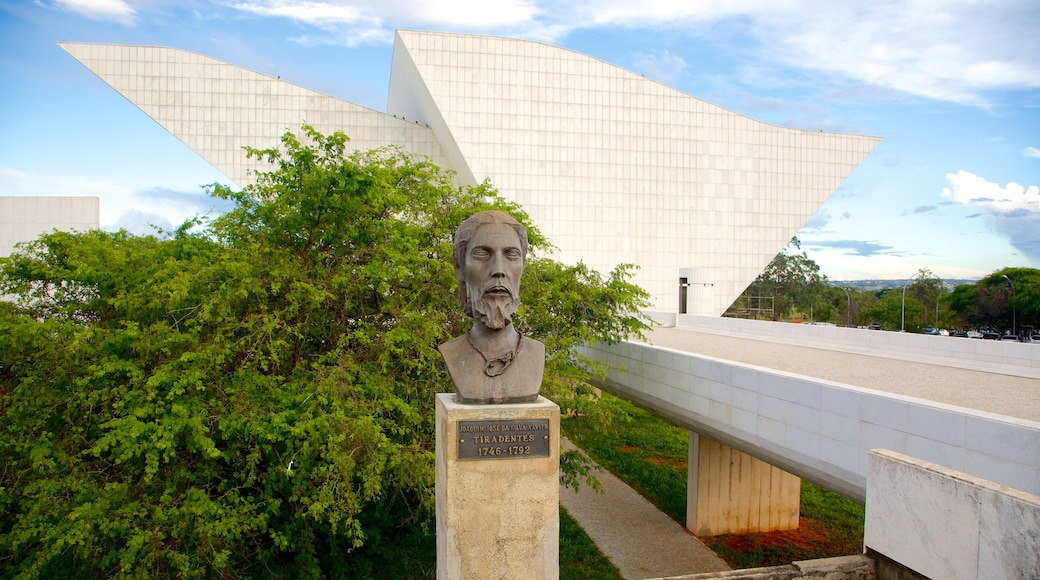 Liberty Pantheon showing a statue or sculpture, outdoor art and modern architecture