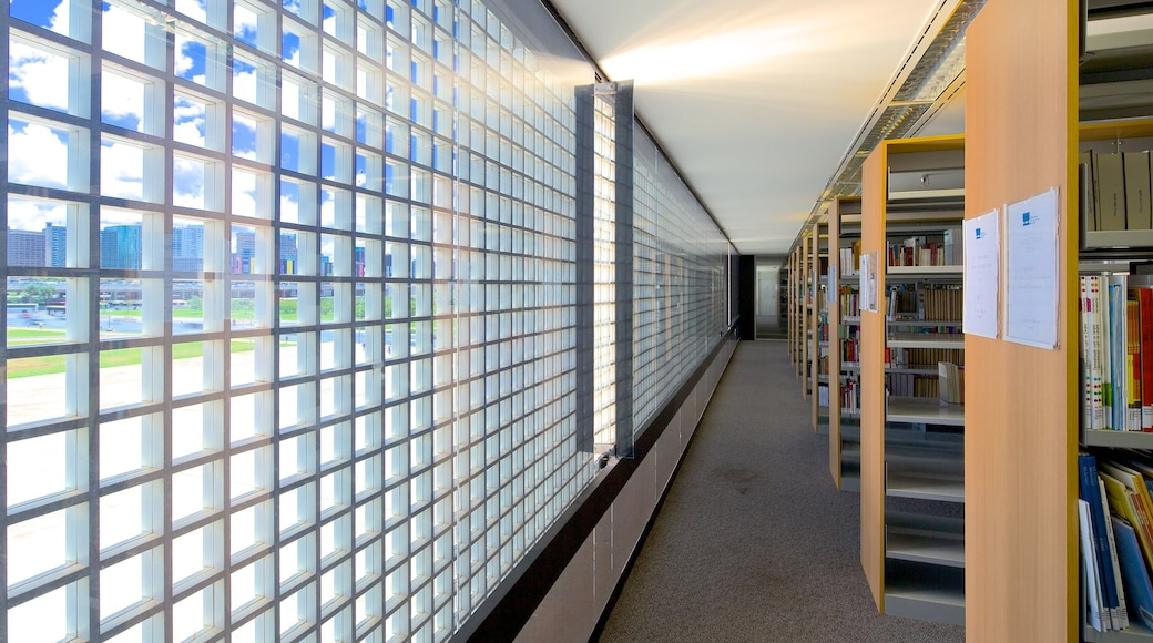 National Library featuring interior views