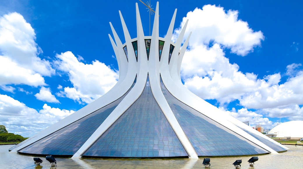 Metropolitan Cathedral which includes a church or cathedral and religious elements