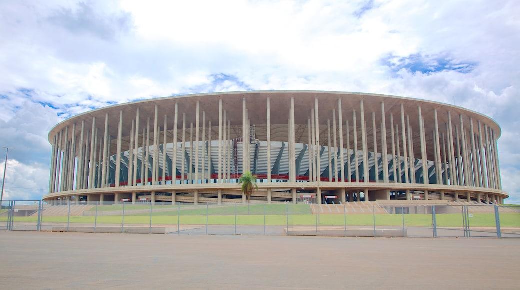 Mane Garrincha Stadium which includes modern architecture