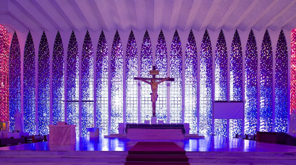 Dom Bosco Sanctuary which includes interior views, a church or cathedral and religious aspects