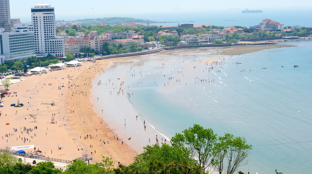 Number 1 Beach which includes a coastal town, landscape views and skyline