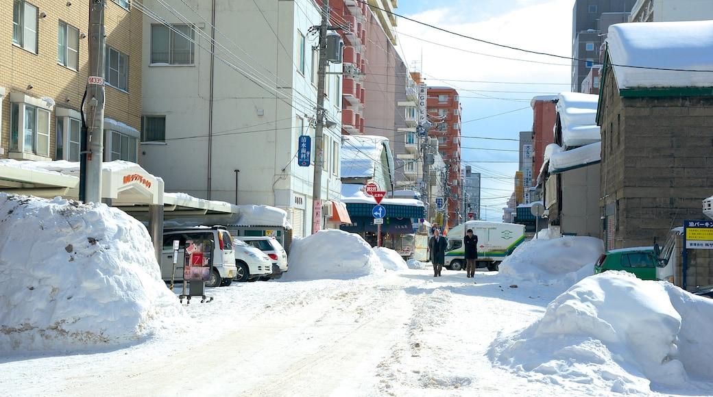 Mercado de Nijo que inclui cenas de rua e neve
