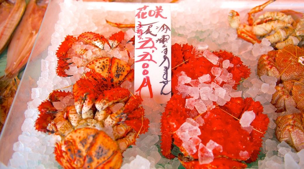 Mercado de Nijo caracterizando comida