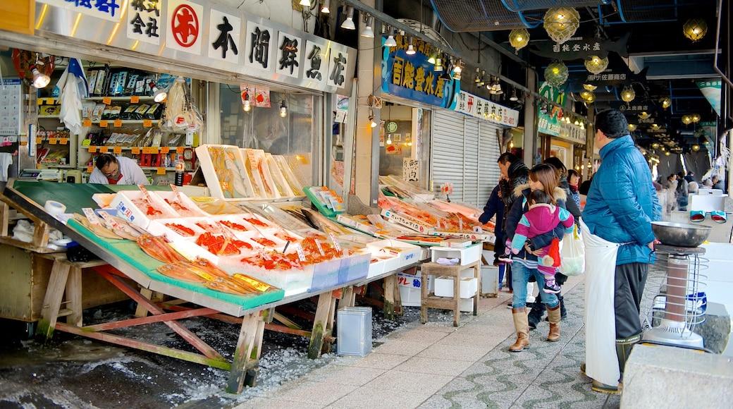 Mercado de Nijo que inclui mercados