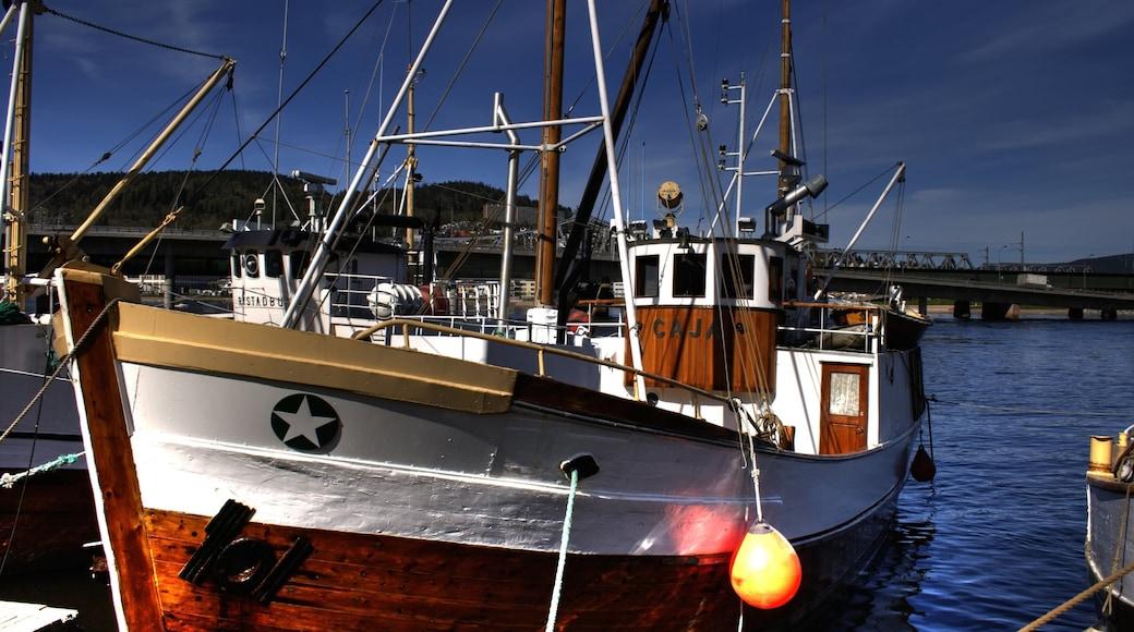Drammen fasiliteter samt bukt eller havn