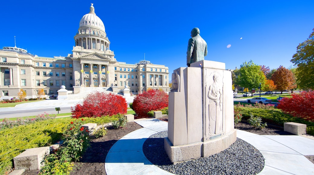 Boise featuring a statue or sculpture and heritage architecture