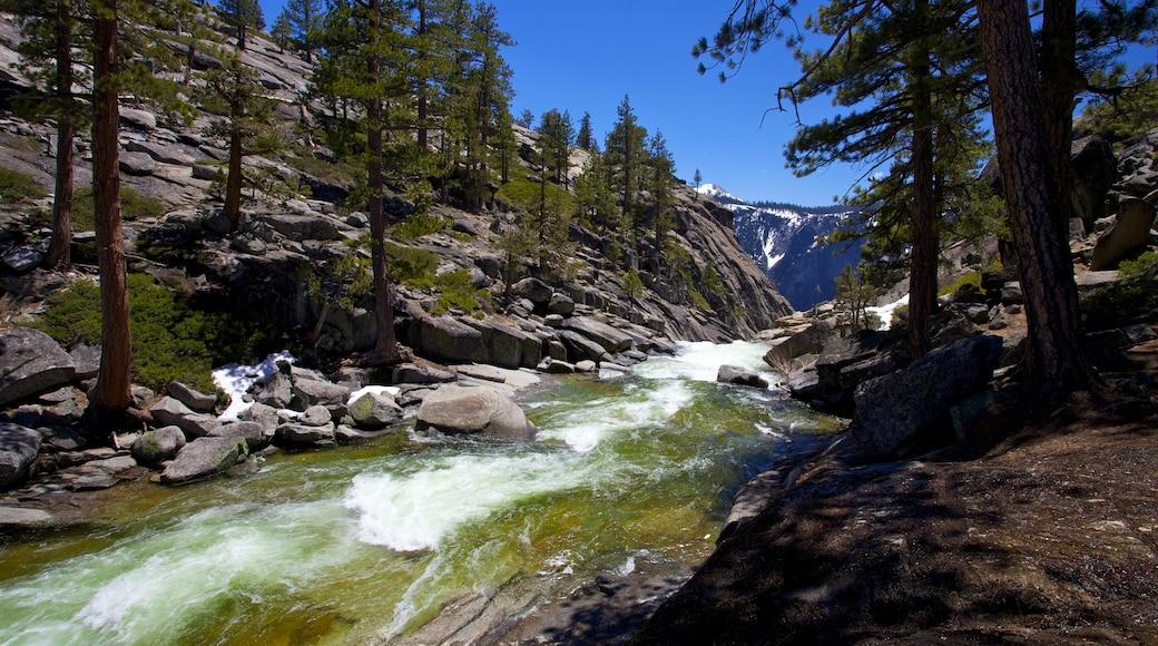Yosemite Falls which includes rapids