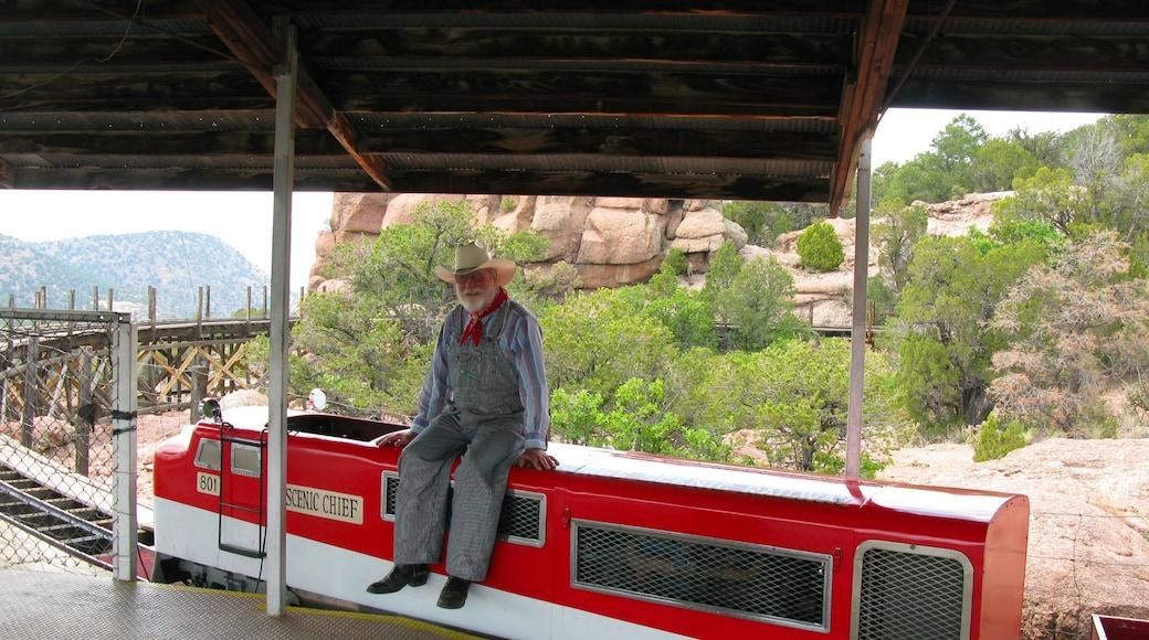 콜로라도 스프링스 을 보여주는 철도 물품 뿐만 아니라 남자